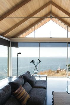 Bowen Island House, Canada by Bai Architects. like the look but think it goes against my green, well insulated ethos- maybe a summer house...?