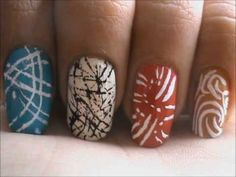Magic nails- Abstract Lines - easy nail art for short nails- nail art tutorial- beginners designs | PopScreen