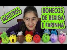 Boneco de bexiga com Farinha como fazer (Monstro, Diferente, Amido, DIY) Monster Bladder and Flour - YouTube