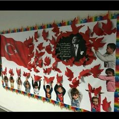 October 29 Republic Day is approaching. Republic Day, the day that officially established the Republic of Turkey. Great Leader Atatürk, other ba … - New Deko Sites New Years Decorations, School Decorations, Diy And Crafts, Crafts For Kids, Paper Crafts, Lessons For Kids, Art Lessons, Class Decoration, Republic Day