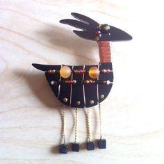 Liztech Jewelry  Anasazi Antelope  Pin  Collectible