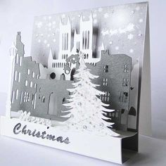A luxury pop up Christmas card based on the historial Cathdral quarter of Lincoln Christmas Card Crafts, Handmade Christmas, Unique Cards, Very Merry Christmas, Lincoln, Greeting Cards, Pop, Luxury, Merry Little Christmas