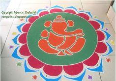 Best Ganesh Rangoli Designs