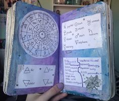 s a p p h i r e - The Traveling Witch - s a p p h i r e Astrology page // I promise to upload more of my journals - Wreck This Journal, Journal Pages, Journals, Journal Ideas, Wicca Witchcraft, Magick, Wiccan, Grimoire Book, Baby Witch