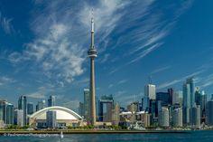 Arrivals' view of the skyline My Portfolio, Cn Tower, I Am Awesome, My Photos, Skyline, Explore, Building, Travel, Viajes