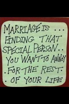 LOL! been married 35 years..poor hubby...this is cute :)