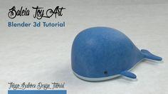 Tutorial de modelagem de uma Baleia toy art, texturização e cycles render com blender 3D  whale toyart 3d model