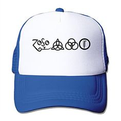Texhood Ledzeppelin Cool Trucker Hat One Size RoyalBlue ** You can get additional details at the image link.  This link participates in Amazon Service LLC Associates Program, a program designed to let participant earn advertising fees by advertising and linking to Amazon.com.