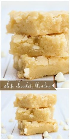 Blondie Brownie Recipe With White Chocolate Chips.White Chocolate Brownies Blondies Sugar Spun Run. Classic Chocolate Chip Blondies Barefeetinthekitchen Com. White Chocolate And Caramel Blondies. Home and Family Easy Cake Recipes, Brownie Recipes, Sweet Recipes, Baking Recipes, Cookie Recipes, Dessert Recipes, Bar Recipes, Detox Recipes, Cheesecake Recipes