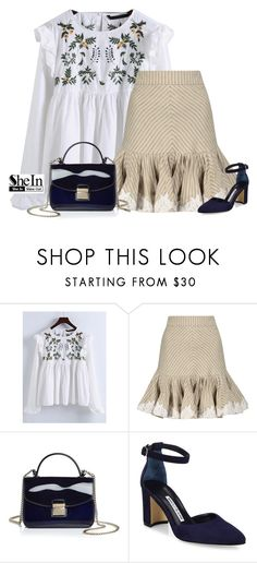 """""""Untitled #61"""" by kayira ❤ liked on Polyvore featuring WithChic, Zimmermann, Furla and Manolo Blahnik"""