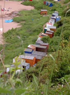 Coldingham Bay & Beach Huts in the Scottish Borders. Beach Huts, Beach Cottages, Best Beaches In Europe, British Holidays, Places In Scotland, Scotland Holidays, Kingdom Of Great Britain, English Countryside, British Isles