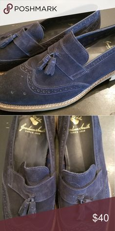 f7005e7a737 Goodwin Smith brogues loafers 13 Blue suede brogues loafers with tassles  Goodman Smith UK Shoes Loafers