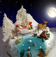 julenisse - Santa Claus,deers -marsipan, sledge,fish-gingebread,water-karamel candy