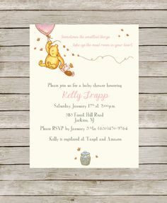 This Winnie the Pooh Baby Shower template is perfect for celebrating the big day! Plus, it will save you time and money! This listing is for a