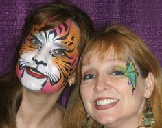 face paint tiger and butterfly