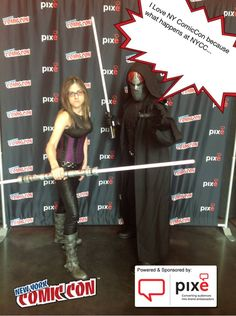 I Love NY ComicCon because what happens at NYCC... #NYCC #PixeSocial