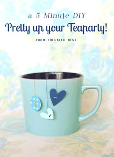 Gonna do this when I get my tea room back! Tea Tag, My Cup Of Tea, Party Accessories, High Tea, Afternoon Tea, Decoration, Party Planning, Party Time, Tea Party