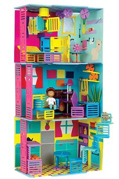 This Townhouse Building Set by Roominate is perfect!