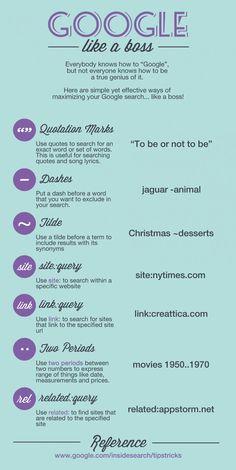 Google Like A Boss - #infographic