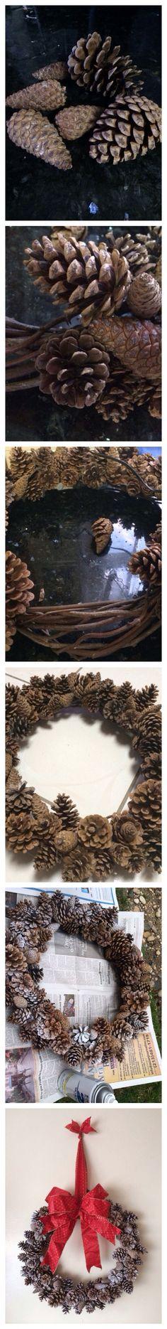 DIY TUTORIAL CHRISTMAS WREATH HOW TO MAKE PINE CONE WREATH WHAT YOU NEED: