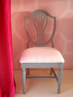 Gorgeous chair, also love the pink/grey shades