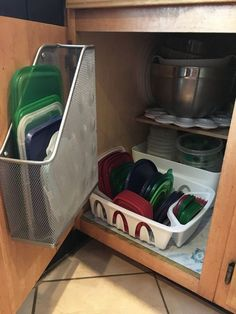 """""""I NEED to do this for my messy Tupperware cabinet"""" said a reader"""