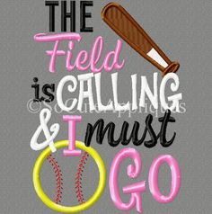 The Field is calling and I must go 5x7: So Cute Appliques