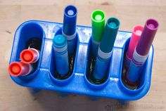 easy art for kids - marker paint Liquid water paints made by soaking dried out markers, how fun!