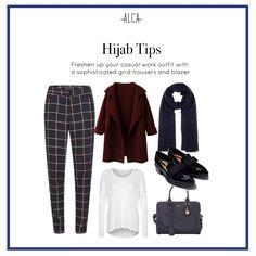 Fashion Work Outfit Mix Match Ideas For 2019 Modern Hijab Fashion, Muslim Women Fashion, Trendy Fashion, Fall Fashion, Chic Outfits, Fashion Outfits, Work Outfits, Dress Fashion, Trendy Outfits