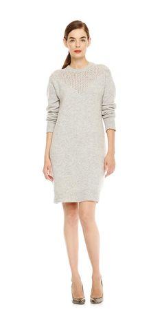 Sweater Dress In Grey Mix From Joe Fresh