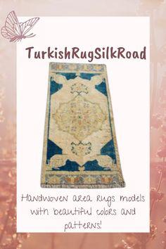 Beige and blue rug, Turkish small area rug, Vintage handmade rug, Bohemian decor, Home decor, Doormat rug, Carpet, 1.3 x 3.1 Feet, Rug Loom, Small Area Rugs, Rustic Rugs, Hallway Rug, Bohemian Decor, Tribal Rug, Vintage Rugs, Hand Weaving, Handmade