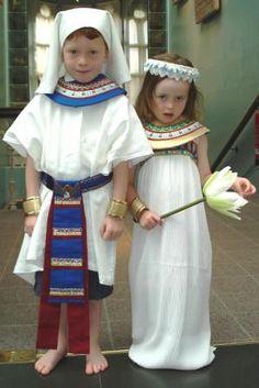 egyptian dress.