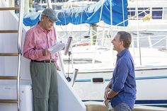 Behind the scenes of the CBS series NCIS New Orleans, scheduled to air on the CBS Television Network. Pictured L-R: Dean Stockwell and Scott Bakula Photo: Skip Bolen/CBS ©2014 CBS Broadcasting, Inc. All Rights Reserved