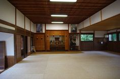 Ibaraki Shibu Dojo Kendo, Martial Arts Gym, Karate Dojo, Japanese Dojo, Gym Interior, Boxing Gym, Indoor Pools, Gym Design, Japanese Architecture
