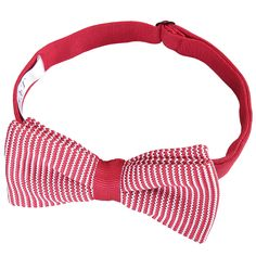 DQT Knit Knitted Plain Burgundy Casual Adjustable Pre-Tied Boys/' Bow Tie