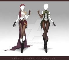 (OPEN) Adoptable Outfit Auction 155-156 by Risoluce.deviantart.com on @DeviantArt