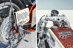 Low Brow Customs Double Vision twin engined Triumph Land Speed Bike ~ Return of the Cafe Racers