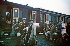 Jews being brought to the Lodz (Litzmannstadt) ghetto by train from all over Europe, Lodz, Poland, 1941 (photo)