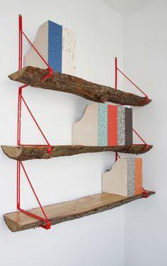 wood log bookshelf // source: studioswine.com
