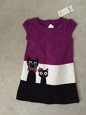 NWT GYMBOREE PURRFECTLY FABULOUS Kitty Colorblock Ponte Dress RETAIL SIZE 4T