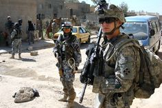 Post with 2721 views. A US Army soldier stands with an Iraqi soldier during a patrol in Baghdad, Iraq 2008 × Prophets Of Doom, London Underground Stations, World Oil, Iraqi Army, Us Army Soldier, Iraq War, Baghdad Iraq, Us Veterans, Weapon Of Mass Destruction