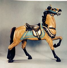 1910 Daniel Muller Circus Horse Outside row stander featured in the book The Carousel Animal by Tobin Fraley (pages Restored in 1983 by Lisa Liepman at Tobin Fraley Studios, Oakland, CA. In excellent condition. Includes custom base with lights. Horse Clip Art, Carosel Horse, Horse Clipping, Victorian Dollhouse, Modern Dollhouse, Wooden Horse, Carousel Designs, Painted Pony, Merry Go Round