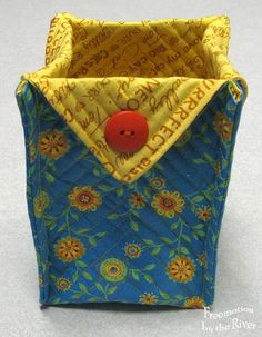 Fabric Box with french seams at Freemotion by the River