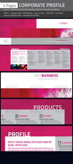 8pp A5 Brochure - InDesign \ Photoshop templates Brochures - corporate profile template