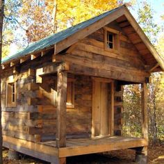 Log Cabin Builder - Rustic Forest Cabin Dick Sellers dreamed of building his own log cabin, and he didn't let setbacks keep him from making that dream come true.