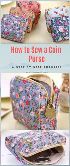 If you love sewing, then chances are you have a few fabric scraps left over. You aren't going to always have the perfect amount of fabric for a project, after all. If you've often wondered what to do with all those loose fabric scraps, we've … Sewing Hacks, Sewing Tutorials, Sewing Tips, Bag Tutorials, Sewing Patterns Free, Free Sewing, Free Pattern, Small Coin Purse, Diy Coin Purse With Zipper