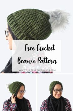 Introducing the Serene Beanie - a crochet beanie pattern that adds just enough warmth without being heavy. Get the full pattern & more here! Easy Crochet Hat, Crochet Headbands, Crochet Beanie Pattern, Crochet Crafts, Crochet Yarn, Crochet Stitches, Crochet Projects, Free Crochet, Diy Projects