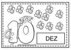 Numerais para colorir! Lindos cartazes com numerais! - ESPAÇO EDUCAR