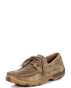 """<p></p><div>Twisted X has designed some cool driving mocs and casual shoes for those long drives to horse shows, stock shows, Grandma's house, or for just """"kikkin around"""". They haven't abandoned their XSD TM technology; these shoes are well made and extremely comfortable perform. If you're looking for something cool, different and fashionable, these are the deal.<br></div><p></p>"""