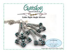 *P Cubic RAW Pendant and Earrings Beading pattern by Studio183, $8.00
